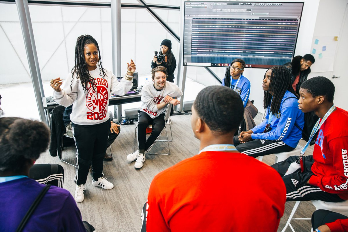 #ChangeIsATeamSport: @Pusha_T and @Rapsody inspire student-athletes at @adidashoops' career day in Chicago