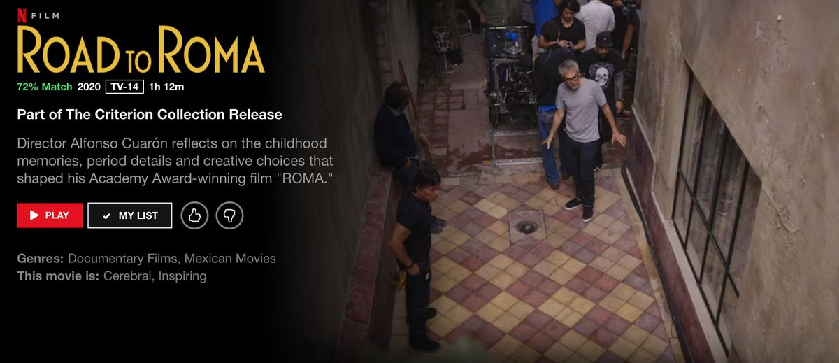 The making-of documentary about ROMA from its Criterion Collection Blu-ray is now streaming on Netflix.