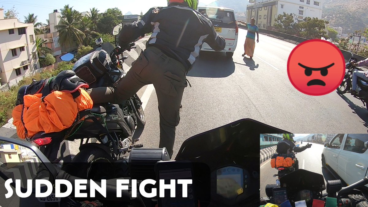Road Fight In Salem 😠  Chennai To Kodaikanal In Duke 250 ( Day 1 )  Video:   Collab Ride With Tamil MotoVloggers !!  #EnowaytionPlus #EPlusSquad #Master