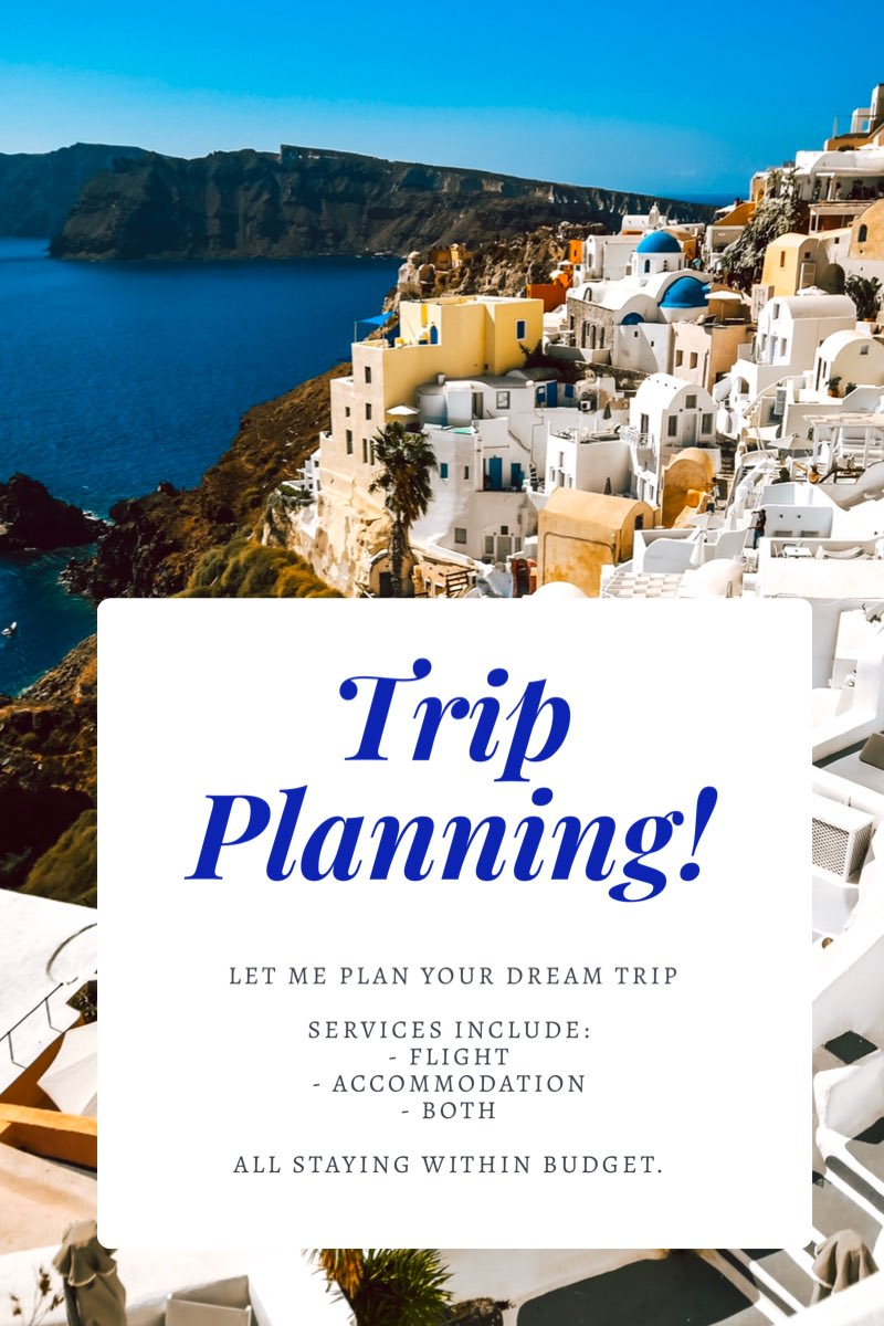 I've now started a trip planning service for those who just want to go on vacay and leave the planning to someone else (me)💕
