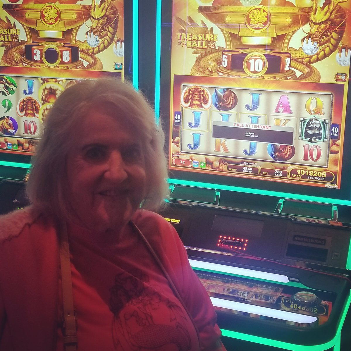 Judith won $10,192. Not a bad day. Congrats on your jackpot! 💵💵
