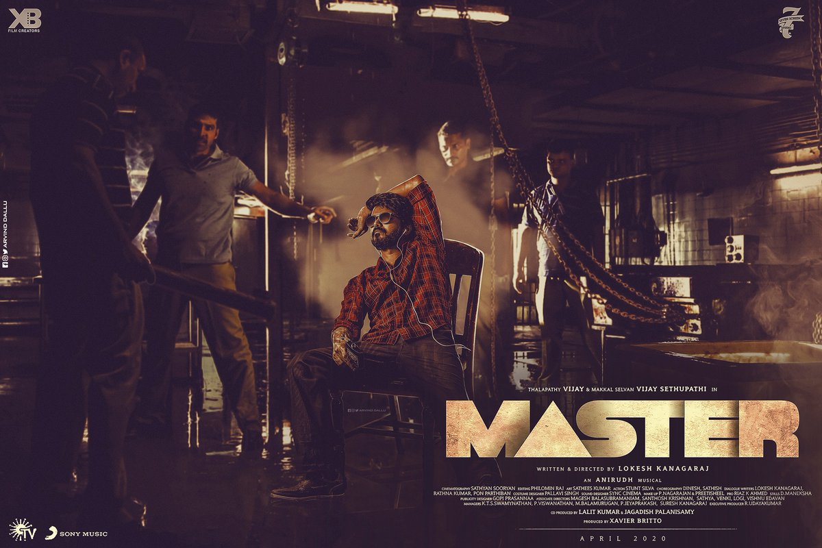 A Brillaint fan-made poster for #Thalapathy 's #Master !!