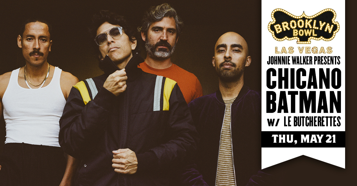 """🍎 JUST ANNOUNCED 🍎 .@ChicanoBatman, the """"beloved bilingual favorites"""" as .@Pitchfork called them, bring their alt-Latin-indie-rock to the Bowl w/ special guest .@LeButcherettes on THU, MAY 21. Grab tix this FRI -->>"""