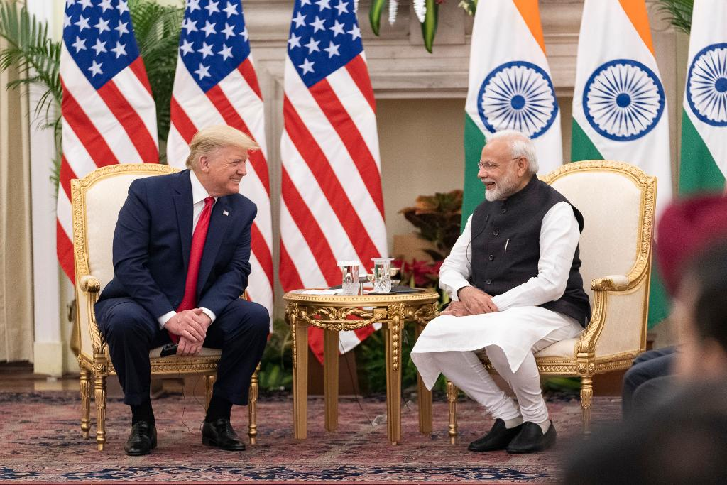 """""""As we deepen our partnership with India, we remember that our two countries have always been united by shared traditions of democracy and constitutions that protect freedom, individual rights, and the rule of law."""" — President @realDonaldTrump"""