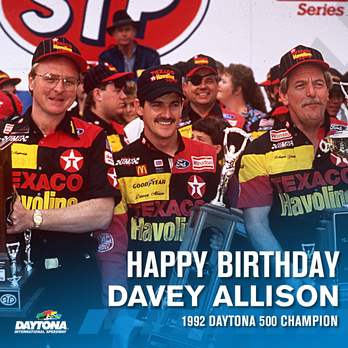 Today we remember 1992 #DAYTONA500 Champion Davey Allison on what would have been his 59th birthday.