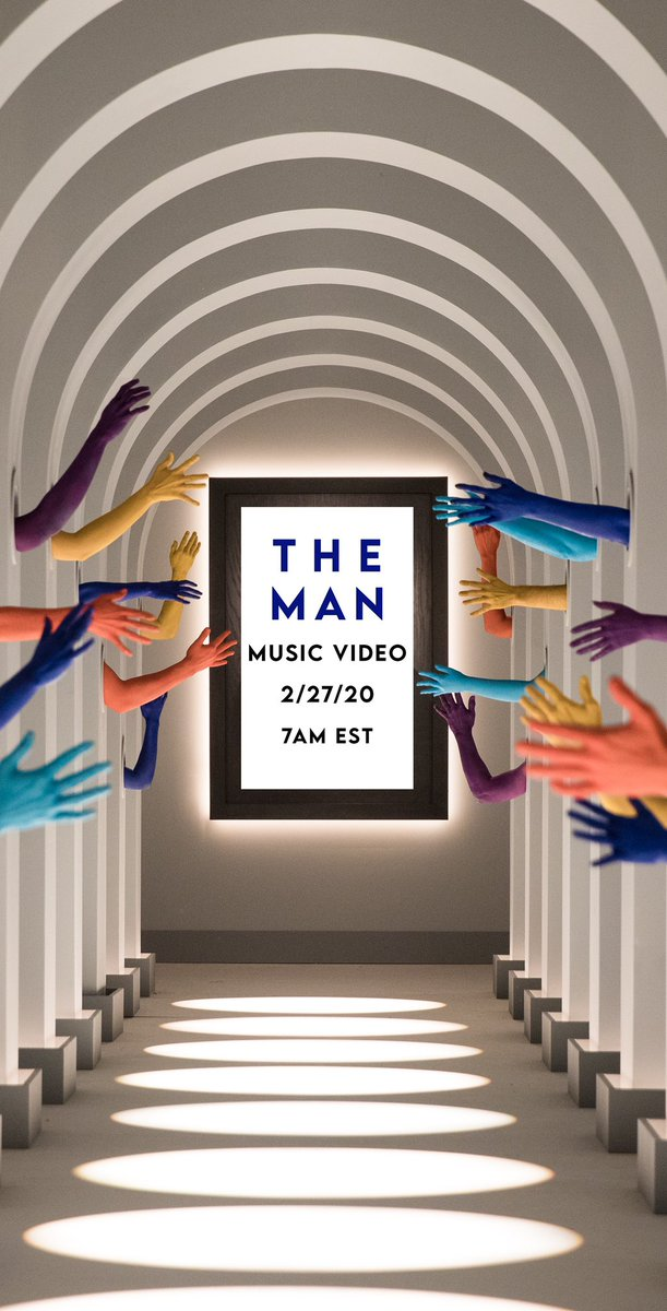 There are 19 hands in the hallway   ... but only 2 days until The Man Music Video https://t.co/pePLcEwxtQ