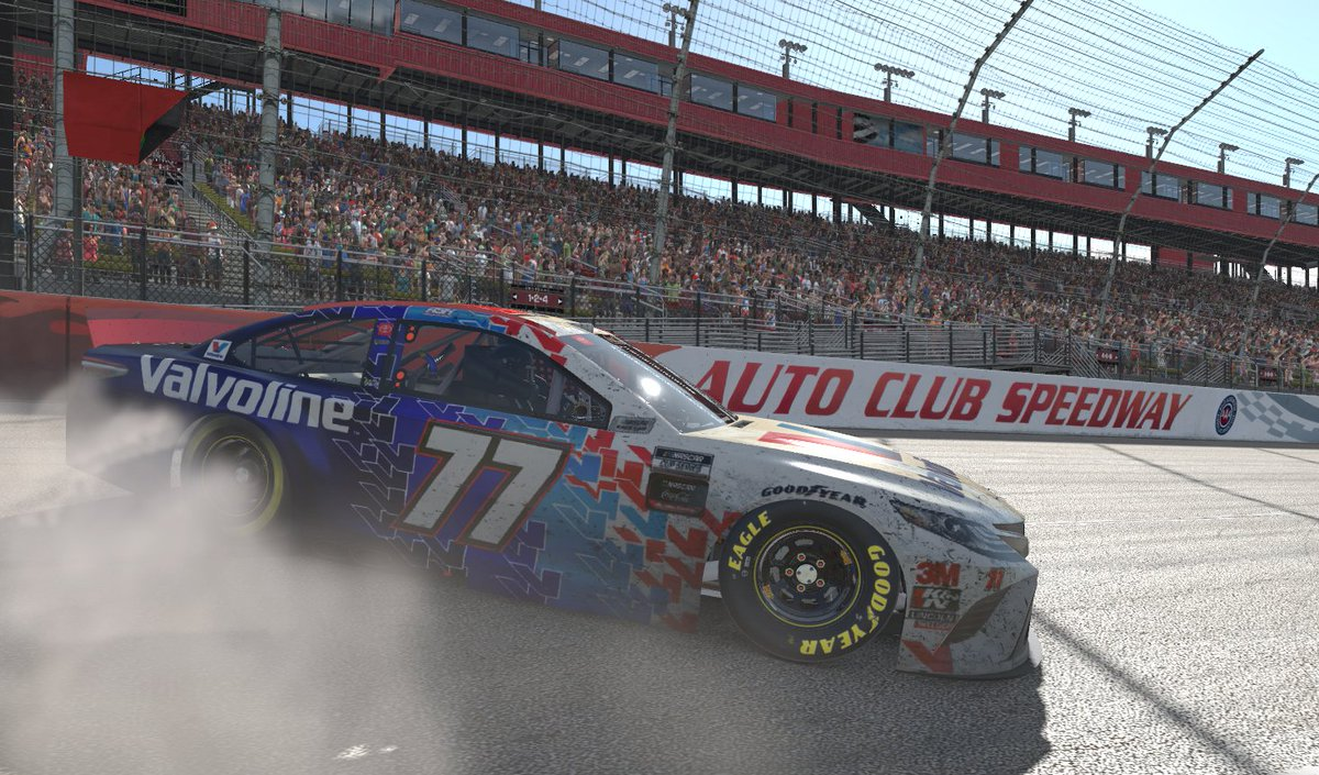 .@AshtonCrowder wins it at @ACSupdates! 🏁  The @BurtKligEsports drivers holds off @GarrettLowe_6 to claim his second career Coca-Cola iRacing Series victory.