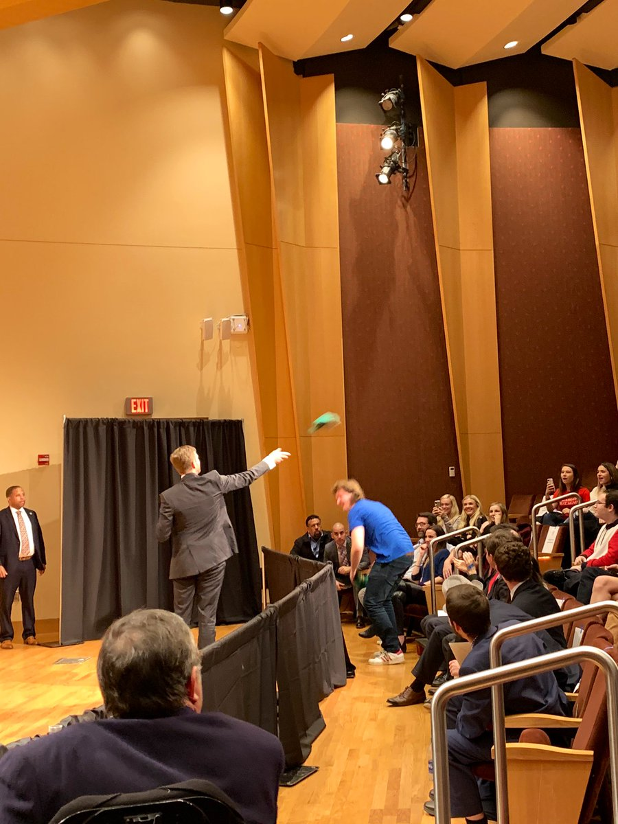 Here, @EricTrump gets Bernie Bros at Georgetown to come running for KAG hats LOL 😂   @TPUSA