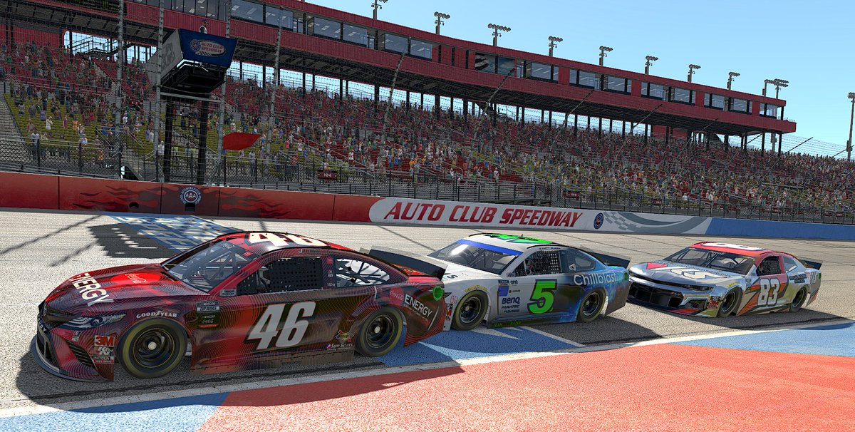 Ready to rock? 👊  Round 2 of the eNASCAR @CocaColaRacing iRacing Series is underway NOW: