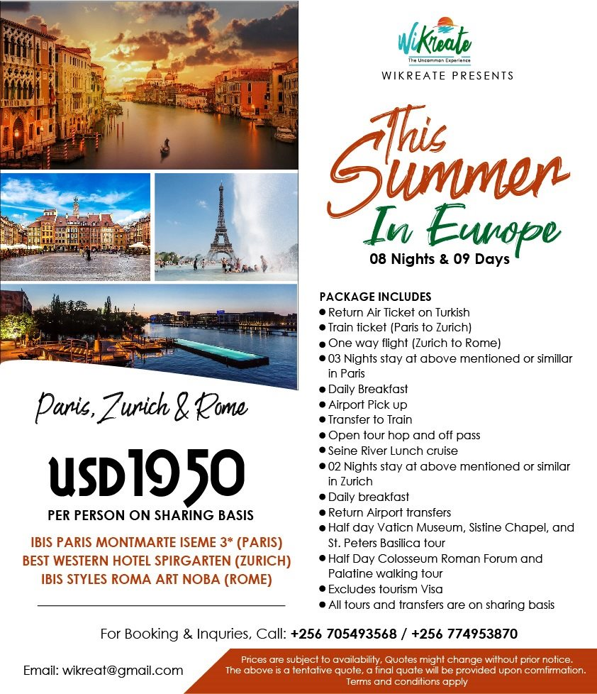 Paris, Zurich and Rome all in the summer. Contact us if interested in enjoying these great European cities with Wikreate Travels Ug  #tourism #adventure #traveling #vacation #holidays #travel #explore #theuncommonexperience #summer2020  @TurkishAirlines