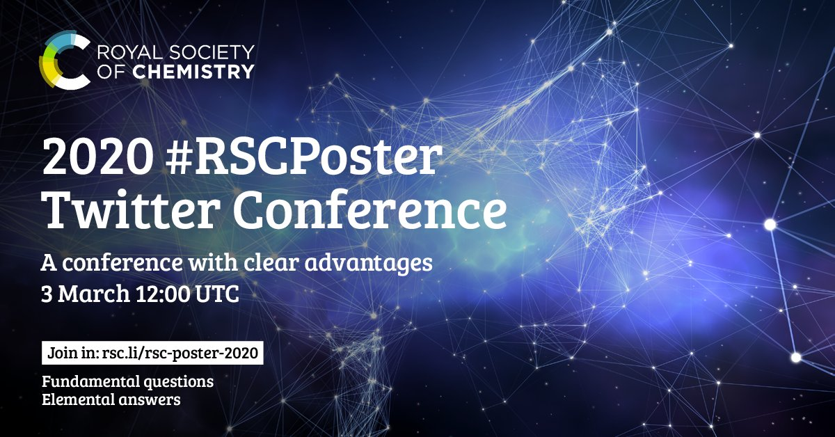 Less than a week to go!   Take part in the 2020 #RSCPoster Twitter Conference. Zero emissions and zero waste ♻️   Register now ➡️  #STEM #Sustainability