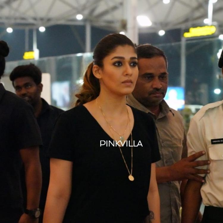 Woowww😍😍😍 #LadySuperstar #Nayanthara going to the set of #Thalaivar168 #thalaivi ♥️🤗👍🏻  👌 photos nayanthara redefines fashion she dons all black outfit hyderabad airport-510626