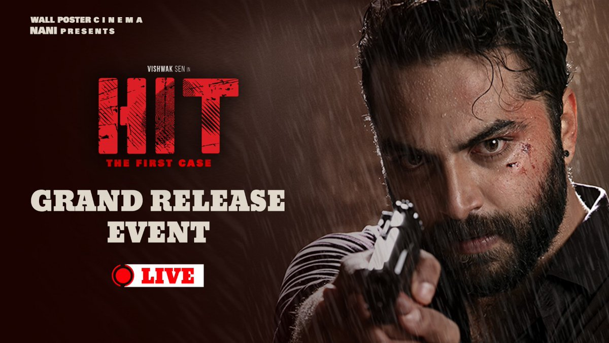 Watch the #HitGrandReleaseEvent Live here  ▶   #HITonFeb28th #VishwakSen
