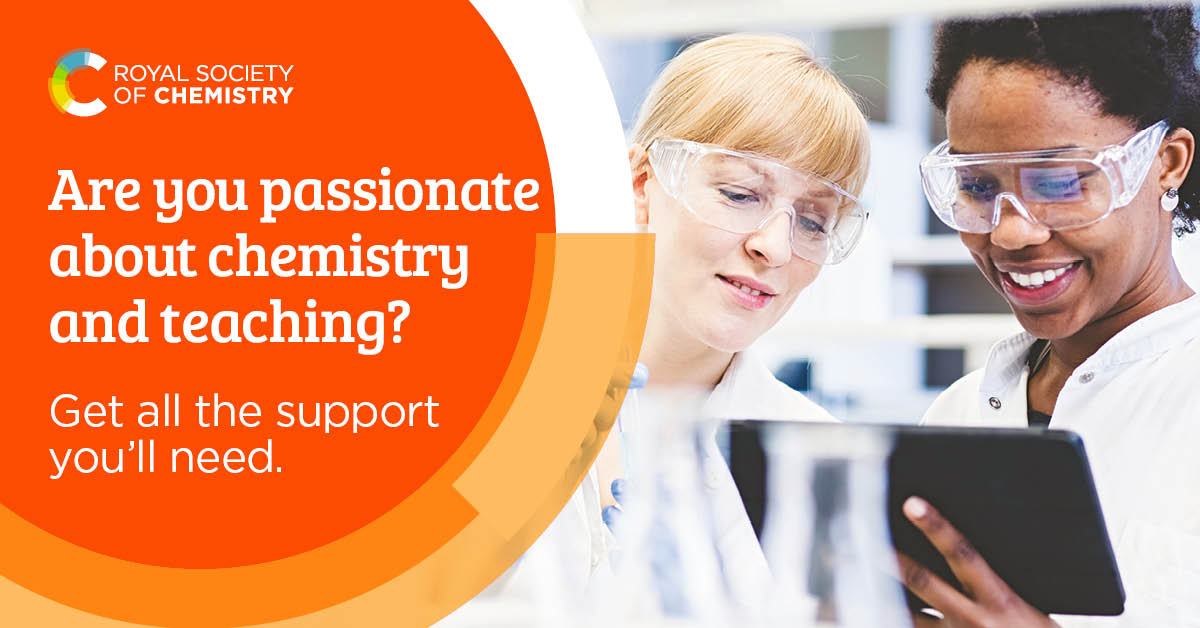 Thinking about training to become a chemistry teacher?  Come and chat to us at @educationgovuk's upcoming train to teach event. @getintoteaching #education #teaching #STEM  4 March 2020, 16.30-19.30, Winchester at the University of Winchester ➡️
