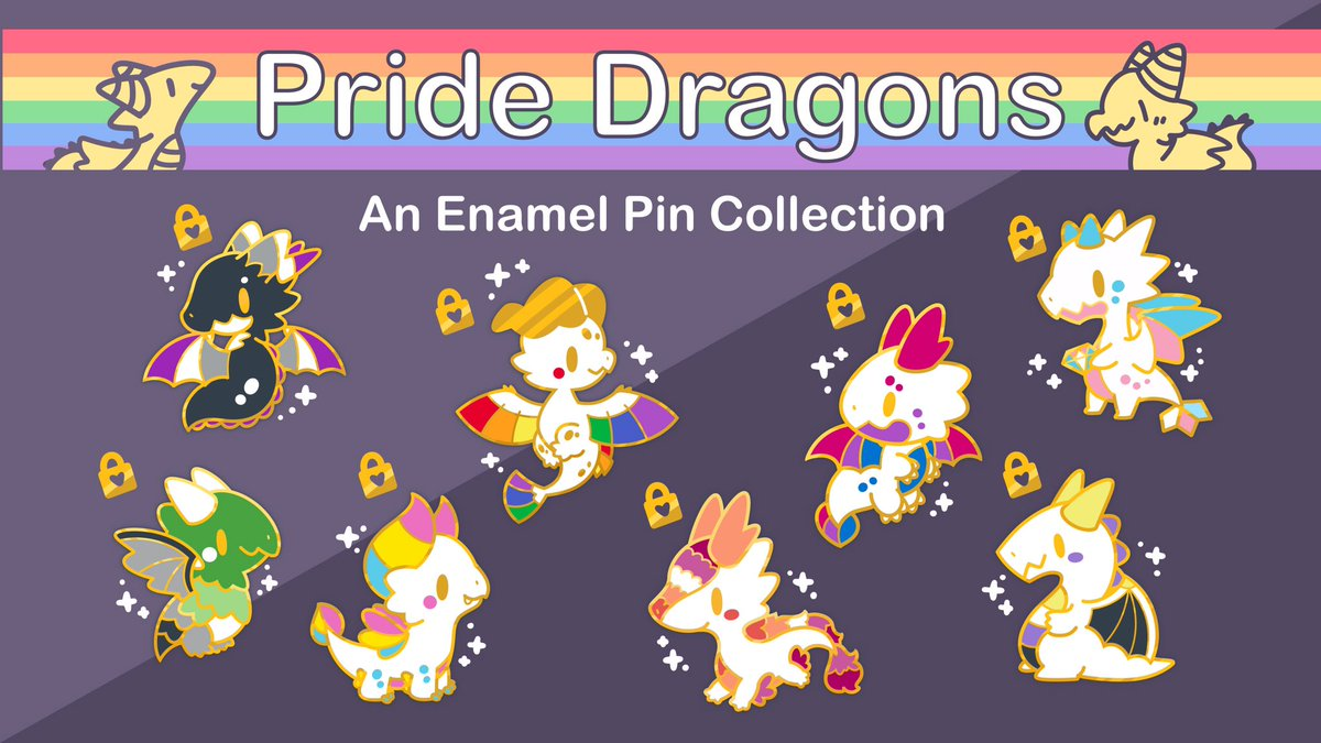 I'm happy to announce my first pin kickstarter!  Please check it out! 🌈 🐉 ♥️