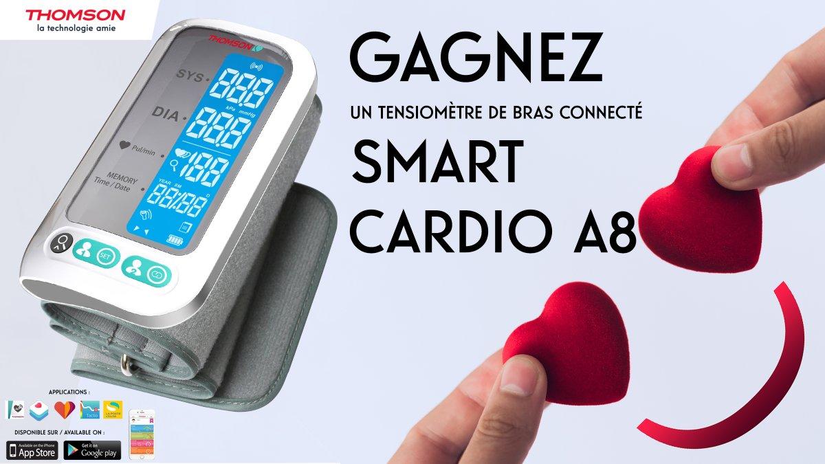 Besoin de prendre soin de vous au quotidien ? Tentez de gagner un tensiomètre de bras connecté Smart Cardio A8 #Thomson ici ➡️  💓  #JeuConcours #ThomsonSanté #SmartCardioA8