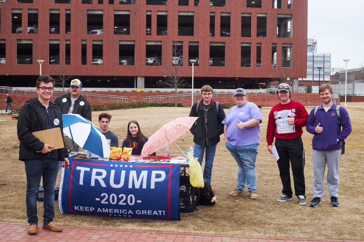 ✅ Registering voters ✅ Informing students ✅ Supporting @realDonaldTrump   Our chapters are working day and night - rain or shine to make sure students get out to vote!
