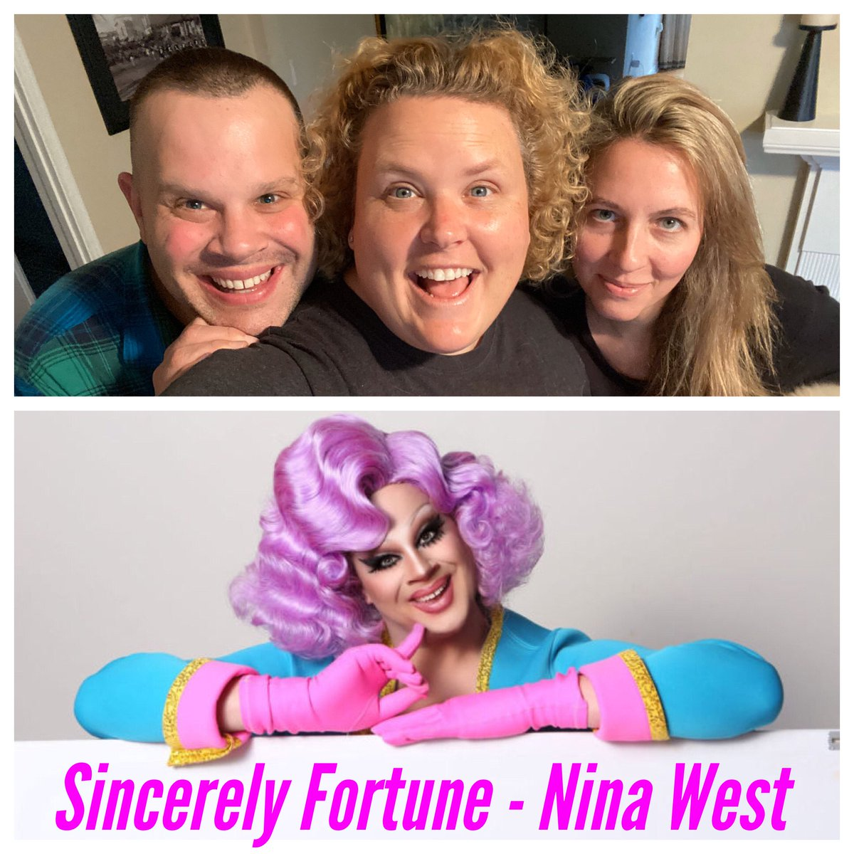 New podcast episode today of Sincerely Fortune! We have RuPaul's Drag Race superstar, @NinaWest, who sits down with Jax and I for over an hour. We get deep, we get silly, we talk Drag Race. Check it out!