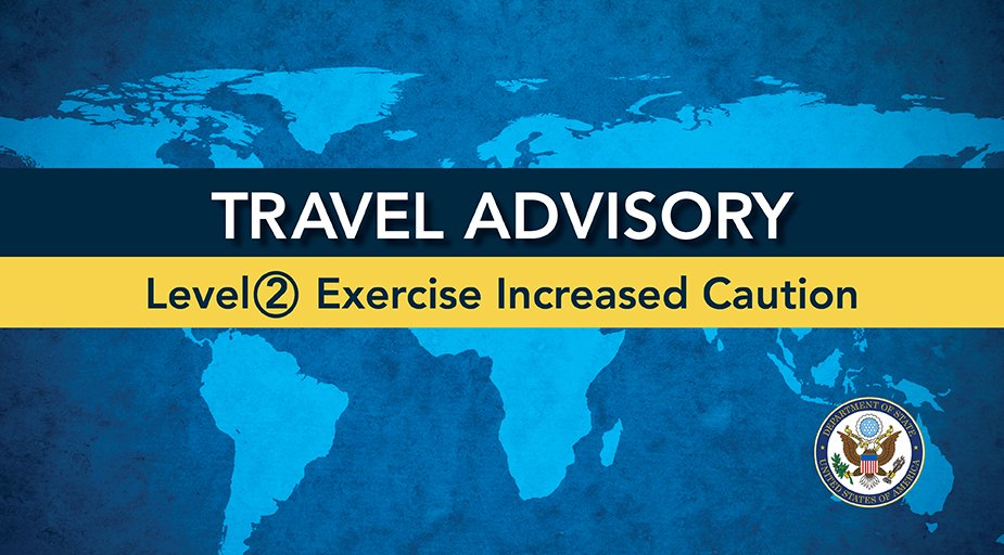 Updated #Italy Travel Advisory - Level 2 - Exercise increased caution due to a recent outbreak of COVID-19 and terrorism. Multiple cases of COVID-19 have been reported in Italy. At this time, @CDCgov does not recommend canceling/postponing travel to Italy.