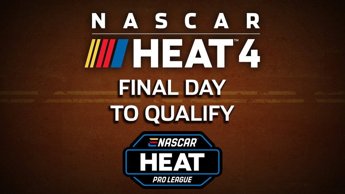 It's the FINAL DAY to qualify for the #eNASCARHeat Pro League Season 2 and a shot at some of that $200,000+ prize pool!  Head to our website to sign up, you've still got time: