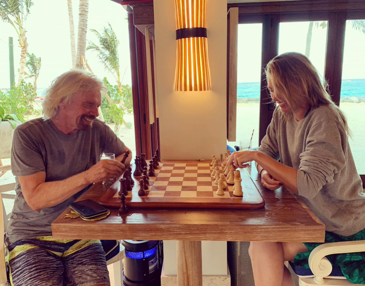 test Twitter Media - Five-time grand slam winner Maria Sharapova announced her retirement from #tennis. We're sad we won't see her on the court, but maybe now Maria will have more time for #chess?   📷: @richardbranson teaching @MariaSharapova the basics of chess via https://t.co/nIHADJ4H02 https://t.co/9bzvmtGVMp