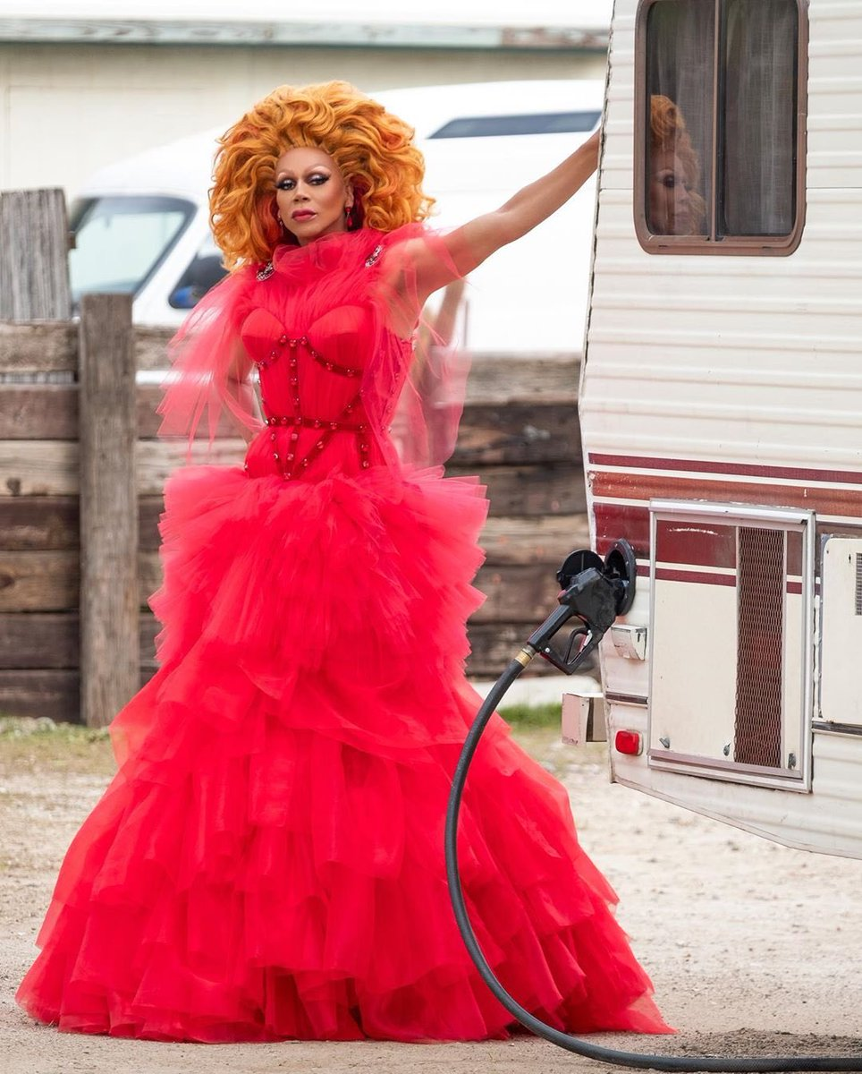 A woman's werk is never done 💋 @rupaul is red hot as our #wcw Ruby Red in #ajandthequeen 🔥 Stream it (and stream it again) now on @netflix!