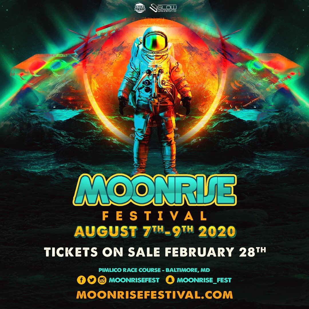 #Repost @moonrisefest with @make_repost ・・・ The countdown to lift off has begun... join us August 7th, 8th, and 9th as the journey expands to 3 days! #moonrisefestival #edm #baltimore #maryland #steezpromo #musicfestival #glow #summer2020