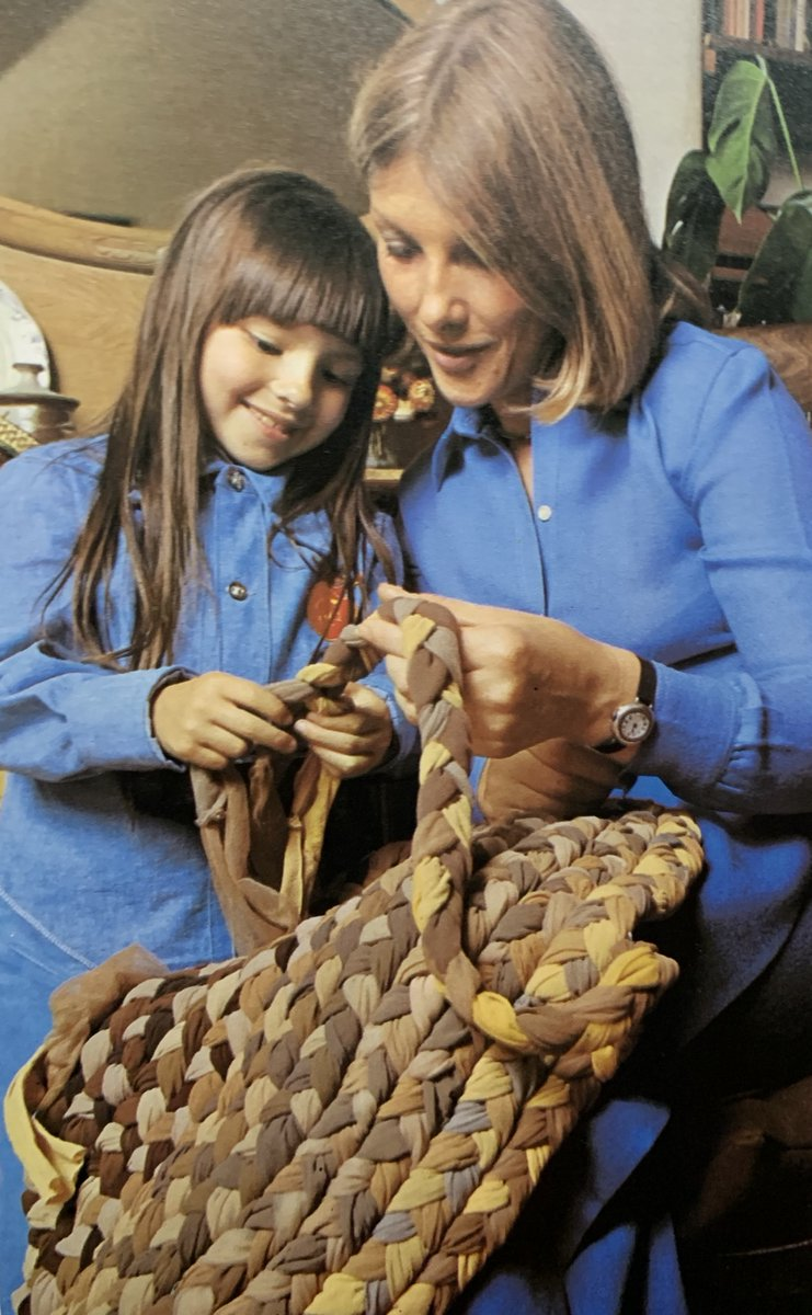 Crafting with Mother #pantyhose #crafts @wonderfulcrafts #1970s