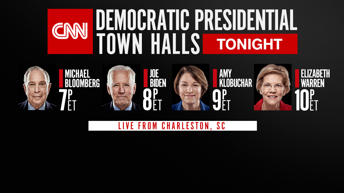 What can the Democratic presidential candidates say to prove they're ready to be the nominee for 2020? Live from Charleston, the Democratic presidential town halls continue tonight at 7 p.m. ET only on CNN