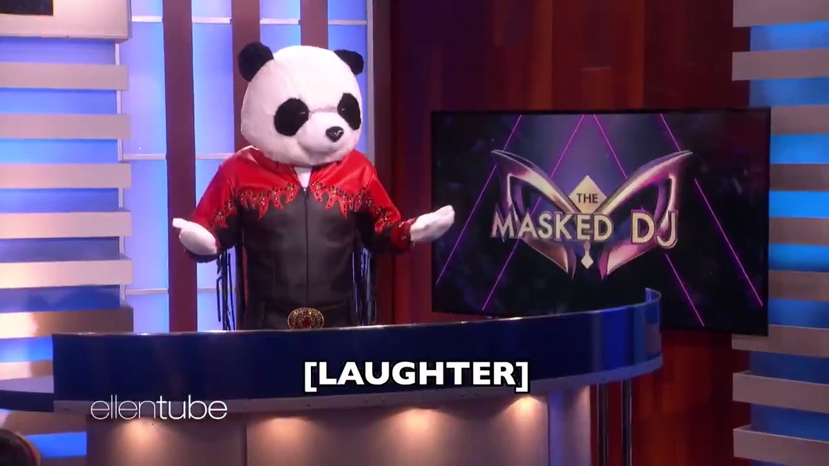 """Here's the first episode of my new hit series, """"The Masked DJ."""""""