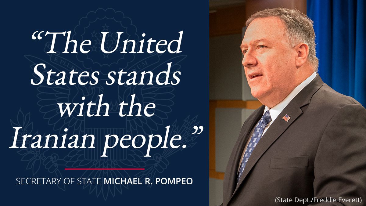 .@SecPompeo: The United States stands with the Iranian people, who are desperately eager to be heard in a free and fair election.