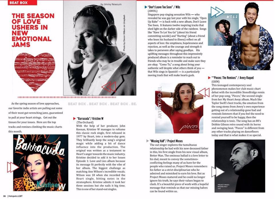 """Thank you to South Florida's Hotspots Magazine for such a great write up about my current single, """"Barracuda"""" off my new album """"Episode One - Love and Lies"""" (you can download the album at  and purchase the physical album at  Xo KW"""