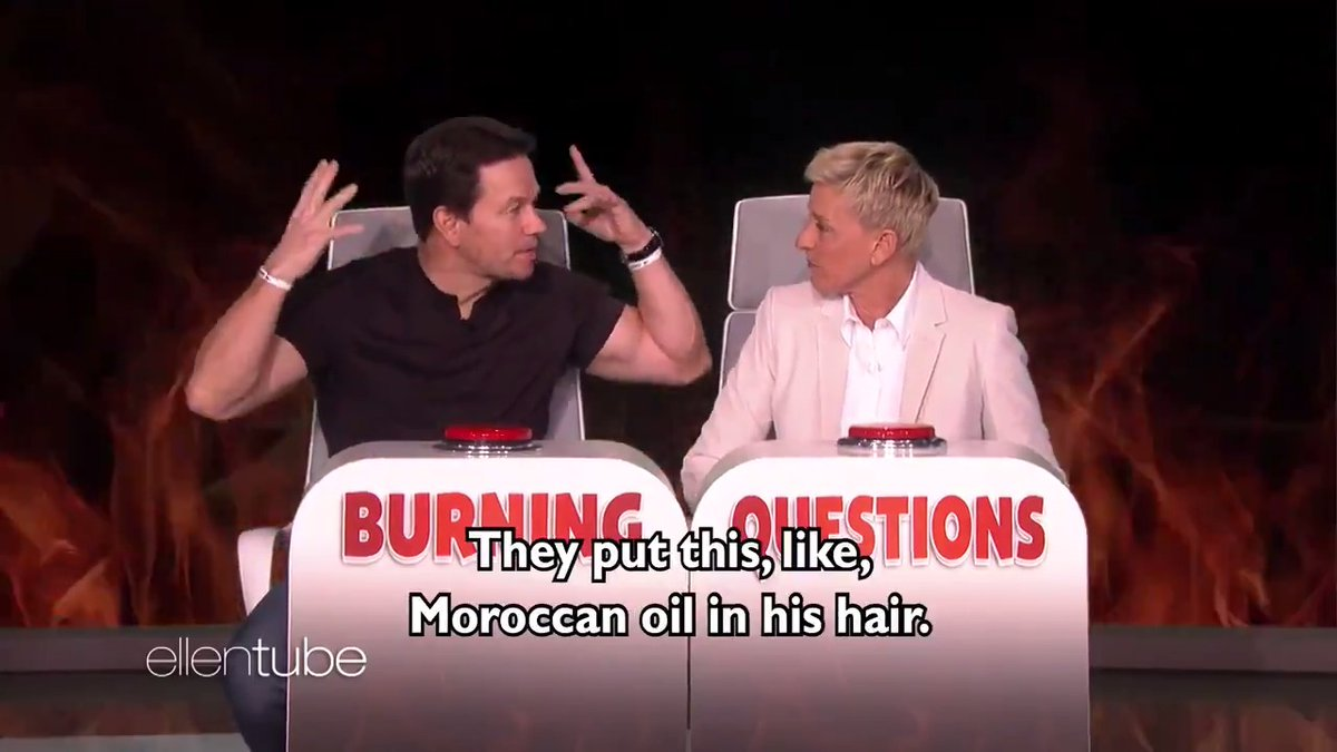 I just found out some very weird information about @MarkWahlberg's feet and Will Ferrell's hair. #BurningQuestions