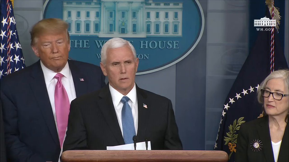 .@VP will lead the Administration's efforts to protect the American people from the spread of coronavirus.