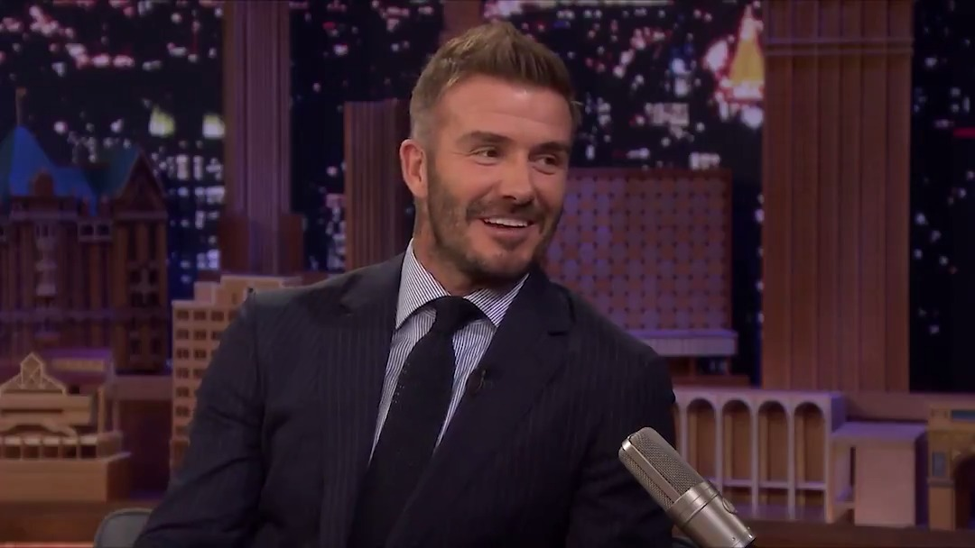 David Beckham tells the story of how he & @victoriabeckham started dating #FallonTonight
