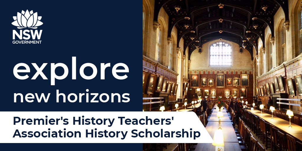 'Every night when I collapse into bed the whole room is moving with the buzz of excitement as I organise the day's learning in my mind' – Emily, Premier's History Teachers' Association History Scholarship recipient. Applications for 2021 now open at: https://t.co/LEz64bCtYw. https://t.co/lMBKGi9kJs