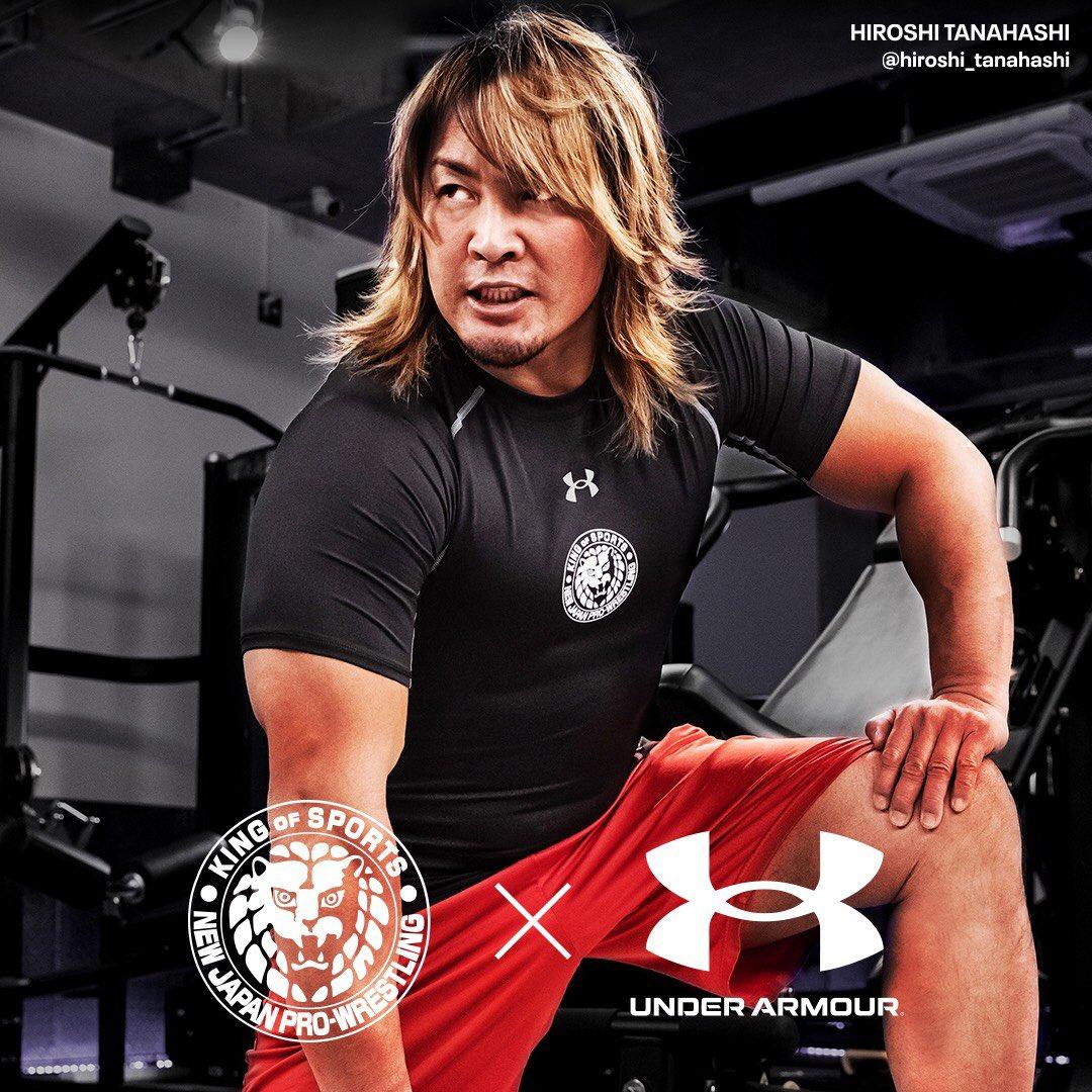 #UnderArmour × #njpw #新日本プロレス Tシャツ 明日2/28から発売予定です☆ #workout #training #motivation ↑