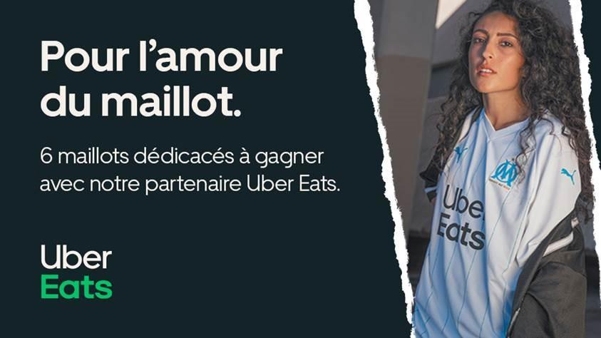 Bonne nouvelle la #TeamOM ! 🎉  Uber Eats, partenaire majeur du club, vous offre 6 maillots dédicacés par un joueur de l'OM, à gagner dès aujourd'hui !  👉 RT + Follow @ubereats_fr pour participer. Fin du concours demain à 14h.