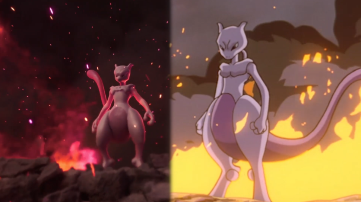 Remember Pokémon: The First Movie? This is what some of its most iconic moments look like now!  Take a walk down memory lane with this side-by-side retrospective, and catch #MewtwoStrikesBackEvolution on @netflix!  🍿
