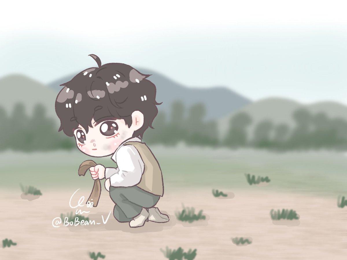뉴ON 어려워서 이해는 잘 못하겠고..🥺 멋있고 귀여운 꼬질이는 그리고 싶었다🤧  #태태 #태형 #뷔 #방탄소년단 #taehyung #V #BTS