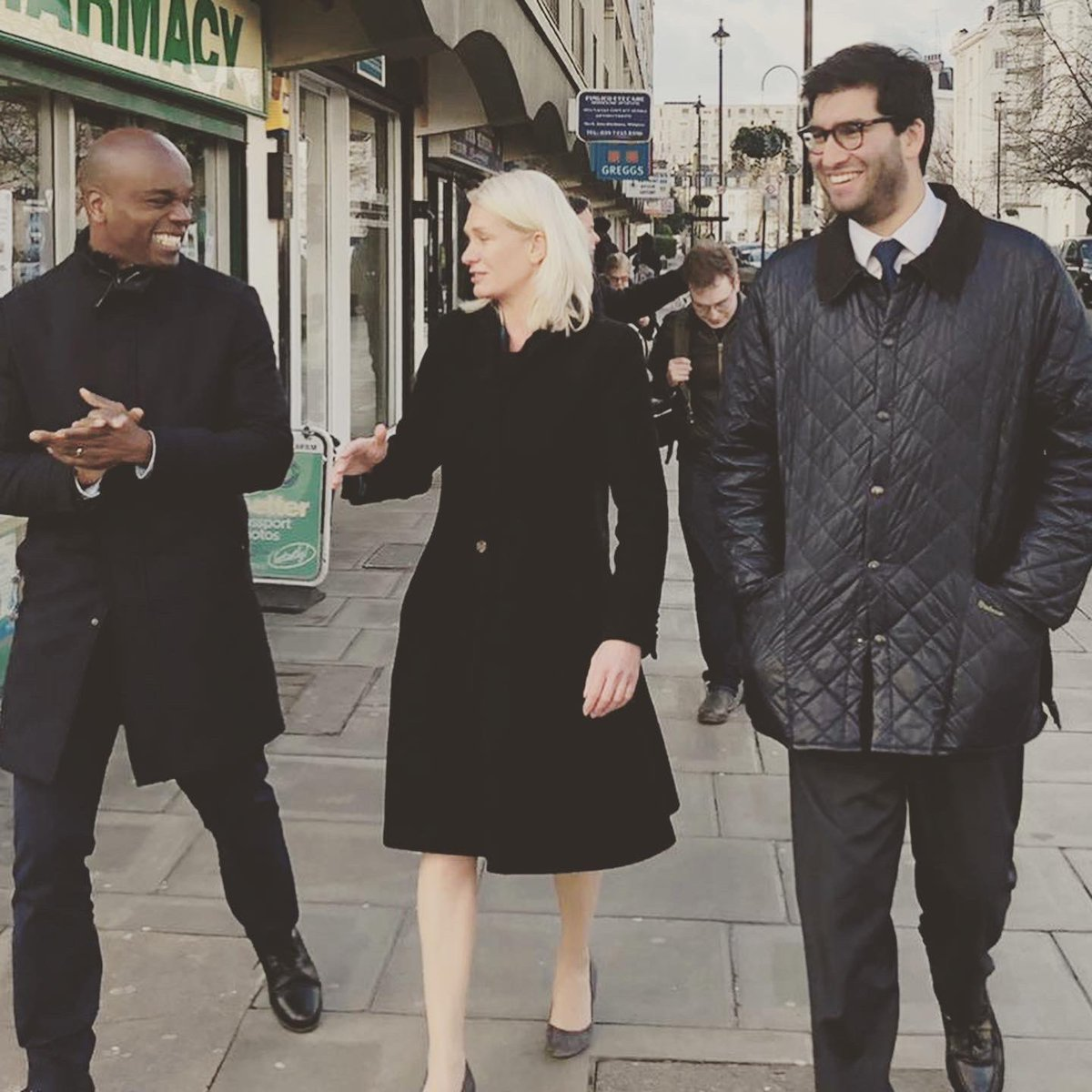 Fab to knock on doors with @ShaunBaileyUK - the man who'll make London safe again as Mayor - and @AmandaMilling, our new Party Chairman! A great team of @Conservatives from across London and beyond!  #makelondonsafeagain #mayoroflondon #conservative #campaigning #politics #london