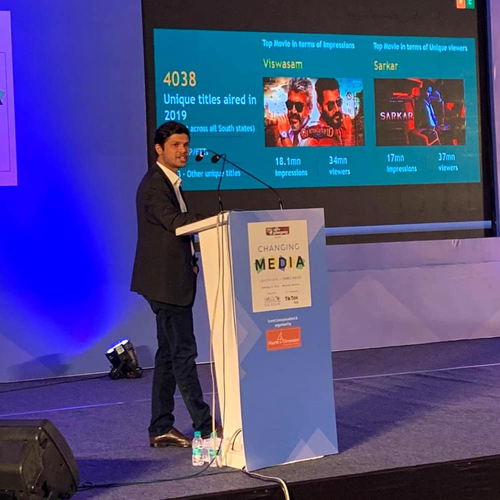 TN rises earlier than the sun and some more insights by @venkatsujitsun -  Head of Products, BARC India presents at Changing Media Landscape in Tamil Nadu.  #BARCIndia #ChangingMediaLandscape #TamilNadu
