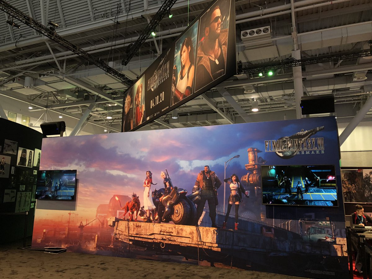 Good morning, #PAXEast! We're here in Boston with a #FinalFantasy VII Remake experience ready for you on the show floor. Head to booth #12011 now!