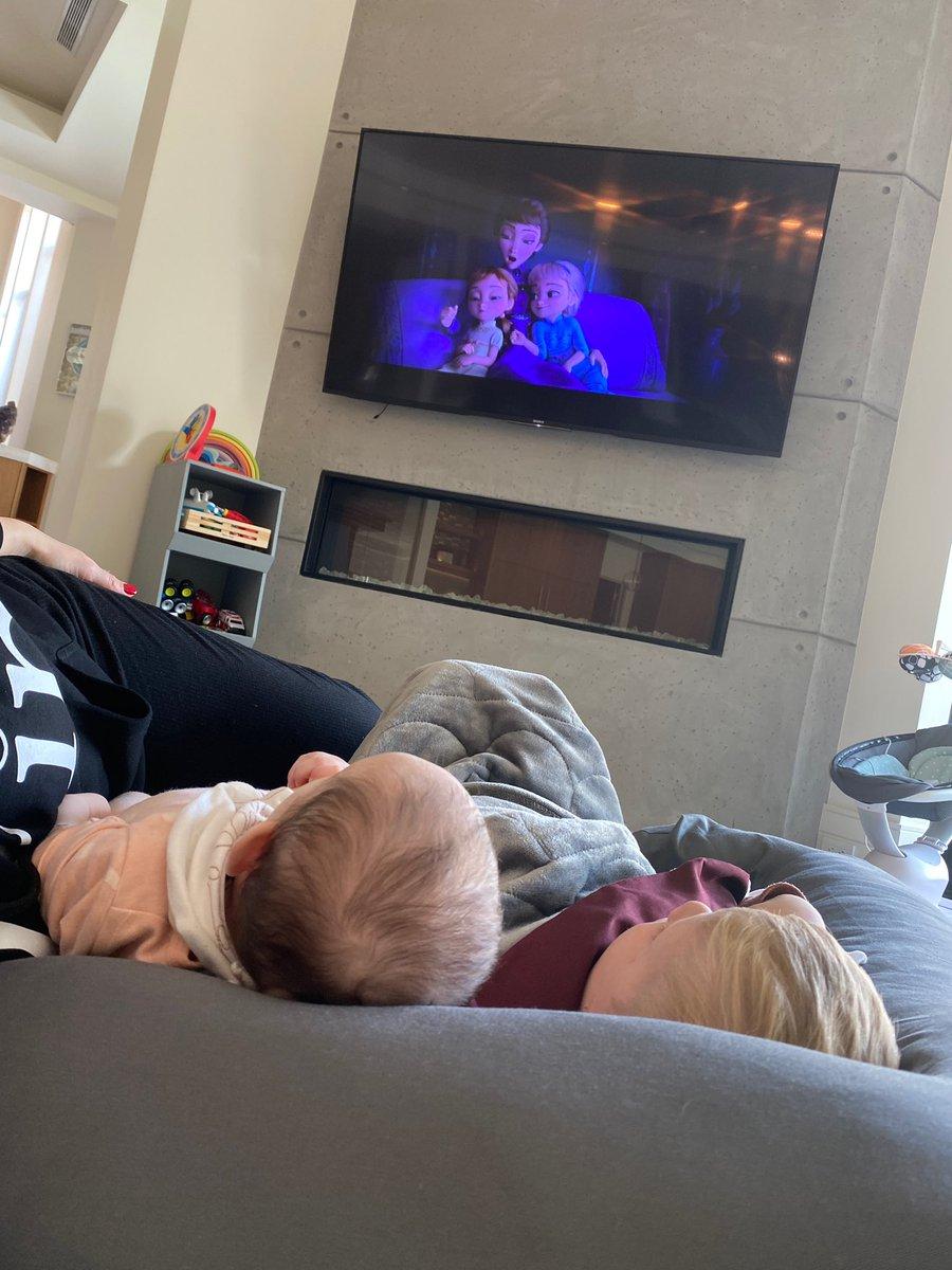 My little family watching #Frozen2 #daddylovesyou #fatherhood #children #family #daddyswillbehomesoon ☺️