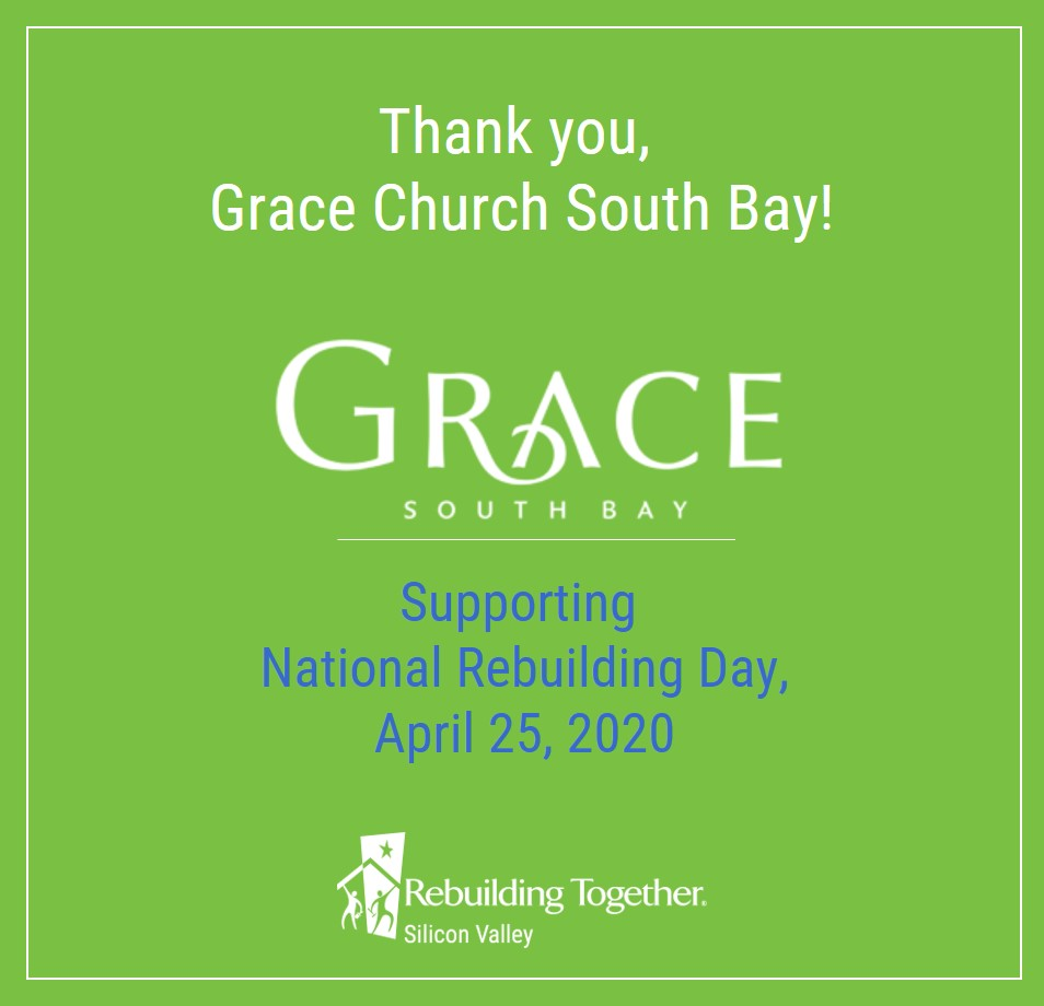 As we approach April 25 #NRD2020, we want to thank the sponsors who make this community effort possible! Today, thanks go out to #GraceChurchSouthBay for their support! Our neighbors' homes + community spaces will be repaired thanks to #NRD sponsors. Thank you! #RestoringHope
