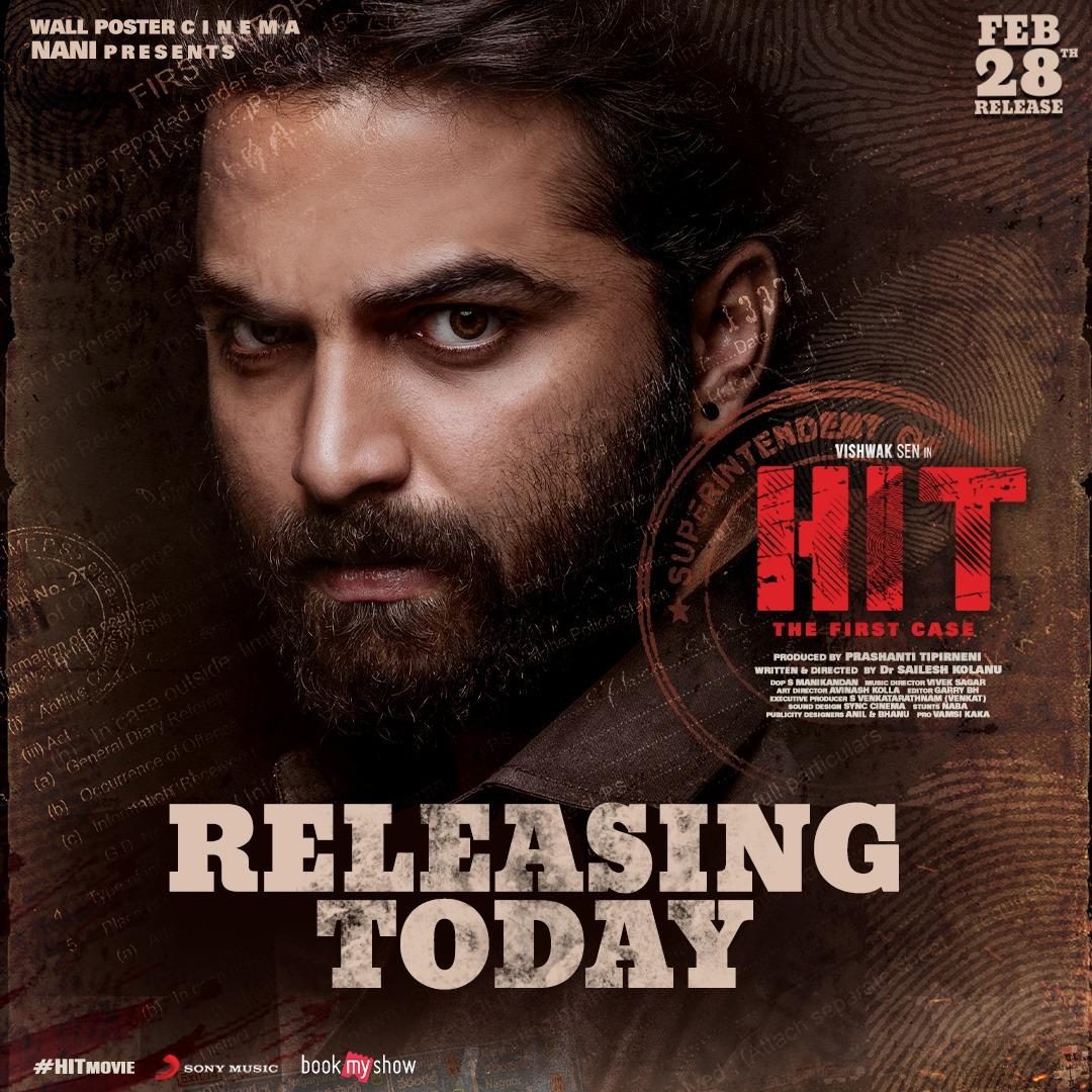 #HitMovieDay  Watch the thriller in your nearest theaters.  Book your tickets now -   #HITMovieInCinemas   #VishwakSen @iRuhaniSharma @NameisNani @KolanuSailesh @svr4446 @Garrybh88 @maniDop @PrashantiTipirn #VivekSagar