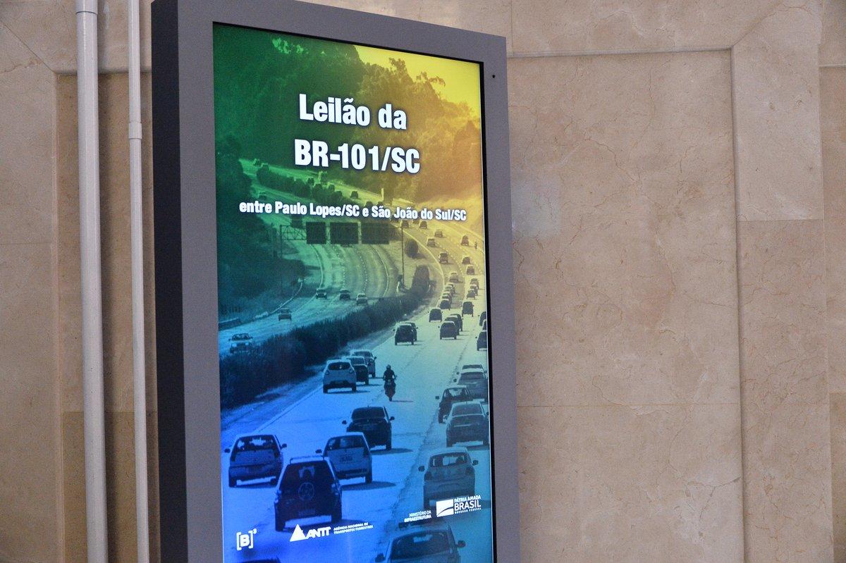#INFRAESTRUTURA   🛣 Primeiro leilão de rodovias deste ano se encerra com a previsão de investimento de R$ 7,4 bilhões na BR 101/SC. O edital prevê novas vias, faixas adicionais, passarelas e outras melhorias. Saiba mais em:
