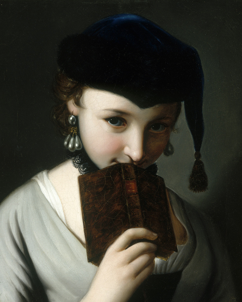 Pietro Antonio Rotari - A Young Woman in a Russian Hat, Holding a Book (18th century) https://t.co/OYBWlbLNOf