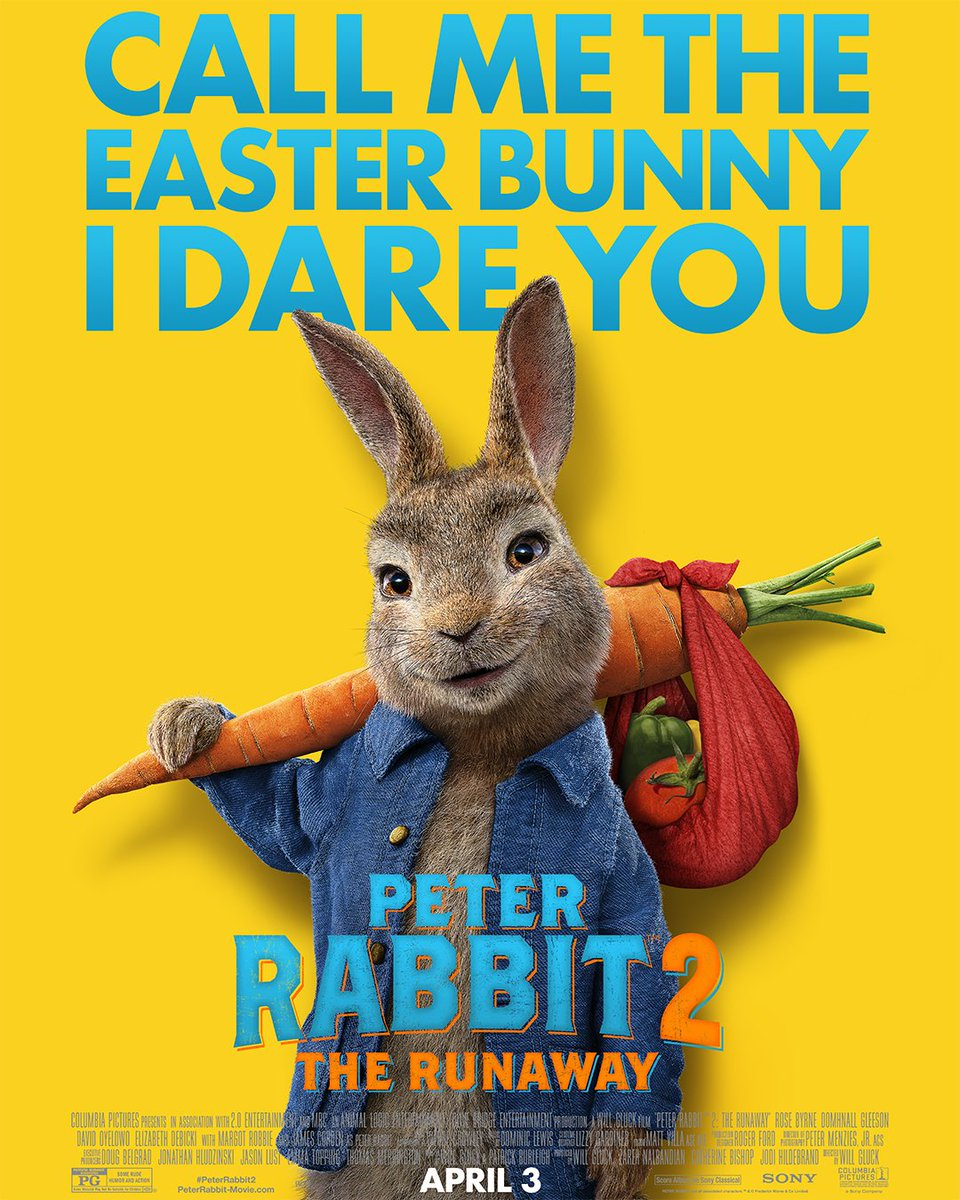 test Twitter Media - Go ahead, we dare you. Don't miss #PeterRabbit2: The Runaway in theaters this Easter! 🐰 //  Ne manquez pas #PeterRabbit2 : The Runaway en D-BOX cette Pâques ! 🐰 https://t.co/6eq2IZhrdR