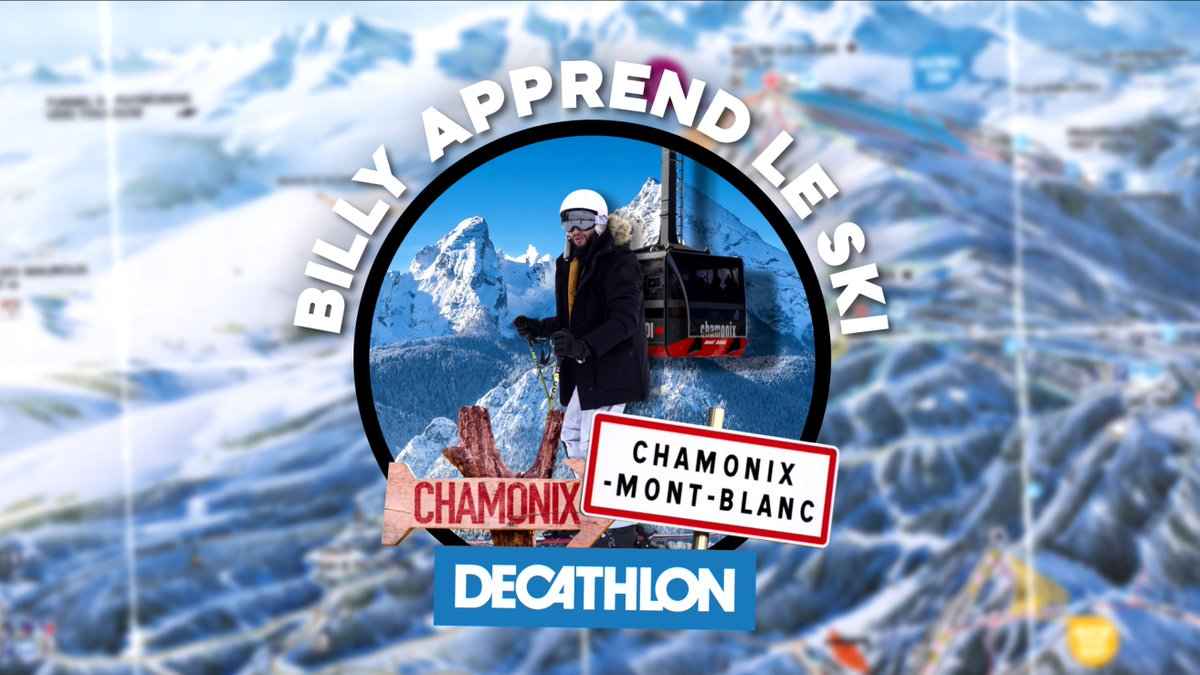 """.@RebeuDeter n'était jamais allé au ski, alors on l'a envoyé une journée sur les pistes, à Chamonix.  Enfin à """"ChamonixXx"""".  👉 Vidéo dispo ici :"""